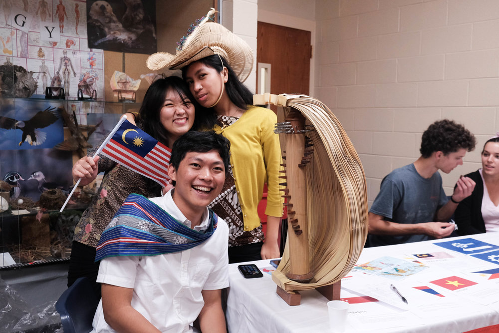 International students representing the Southeast Asia Club at CovCon. Photo by Debra Patricia.