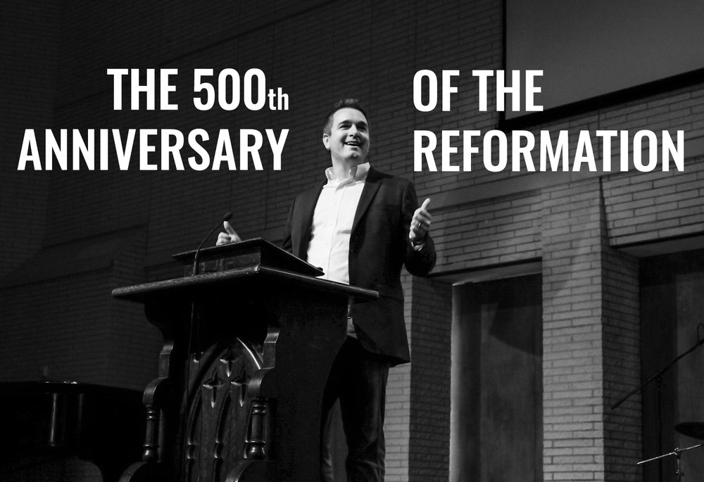 John Dyer Trimble, Professor of Systematic Theology at Reformed Theological Seminary, lectured in     chapel     as part of Covenant's celebration of the Reformation's 500th anniversary. (Photo by Debra Patricia.)