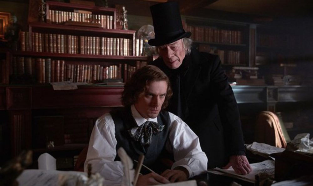 Dan Stevens and Christopher Plummer in    The Man Who Invented Christmas