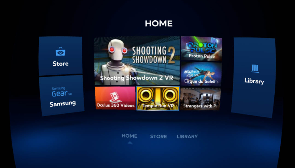 Oculus Home has large, high contrast text