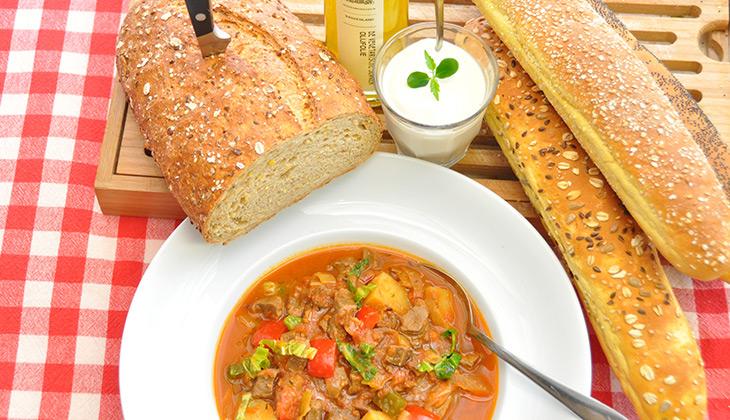 vegan beef goulash soup