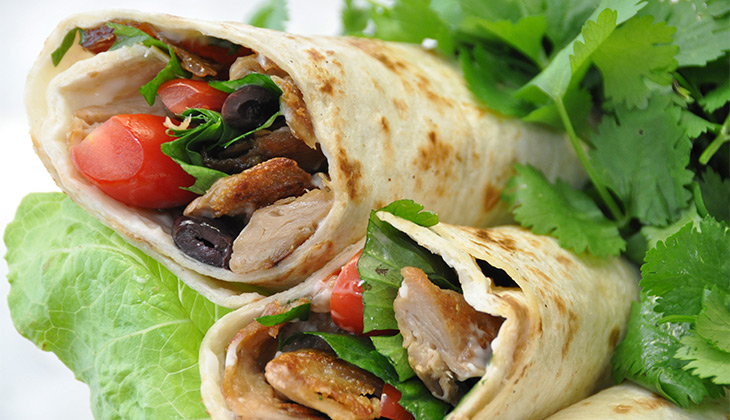 vegan italian chicken wrap