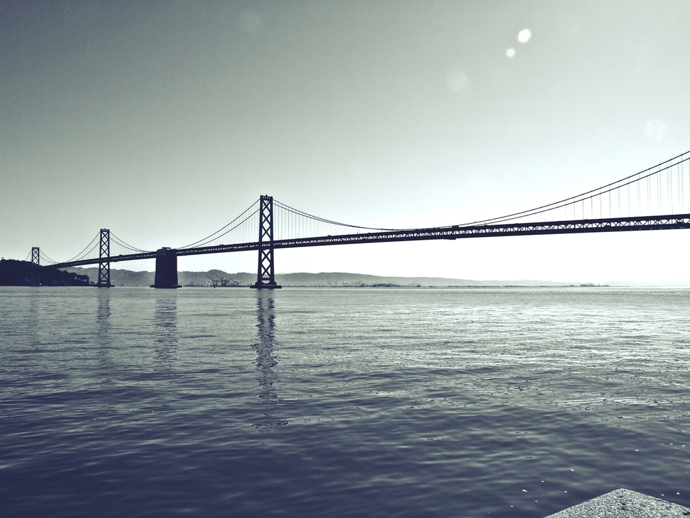 Bay Bridge in Black and White