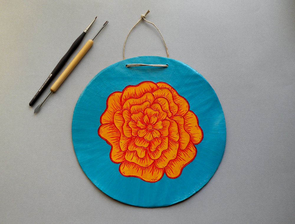 Marigold Wall Plaque