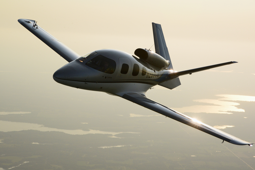 SF50 Vision Jet. The ultimate personal transportation vehicle and the first in its class: the personal jet.  Sporting a V-tail, the Vision is technologically advanced, yet engineered to be simple to fly - to allow owner-pilots more lifestyle pursuits than any other personal aircraft.