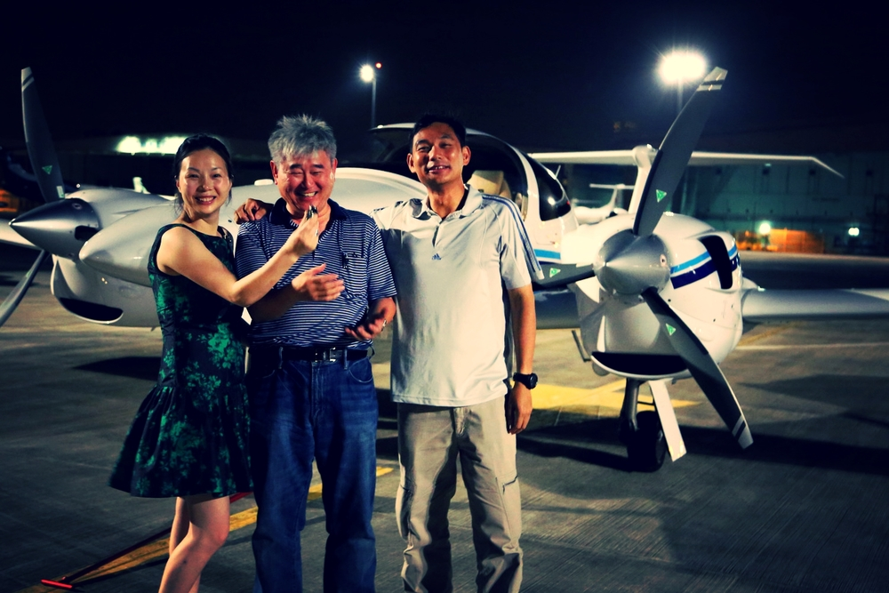 Arriving in Singapore after a delivery flight from Europe, owner's sweetheart hijacks the key to the brand new aircraft asset before WOA delivery pilot could hand-over. Haha!