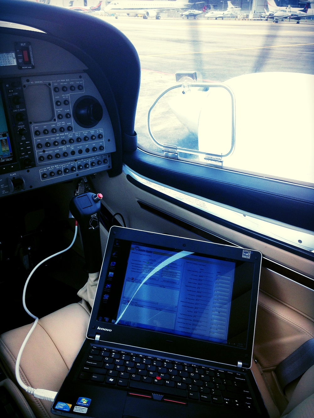 Conducting engine diagnostics for cutting edge technology jet-fuel driven diesel engines.