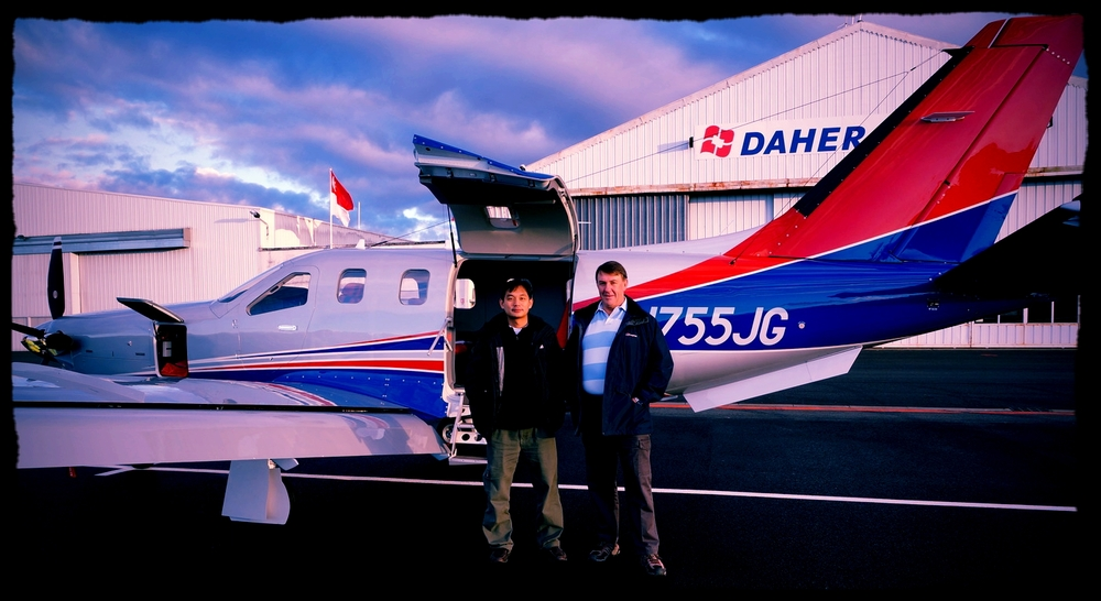 Singapore-based TBM900 on delivery in Tarbes, France