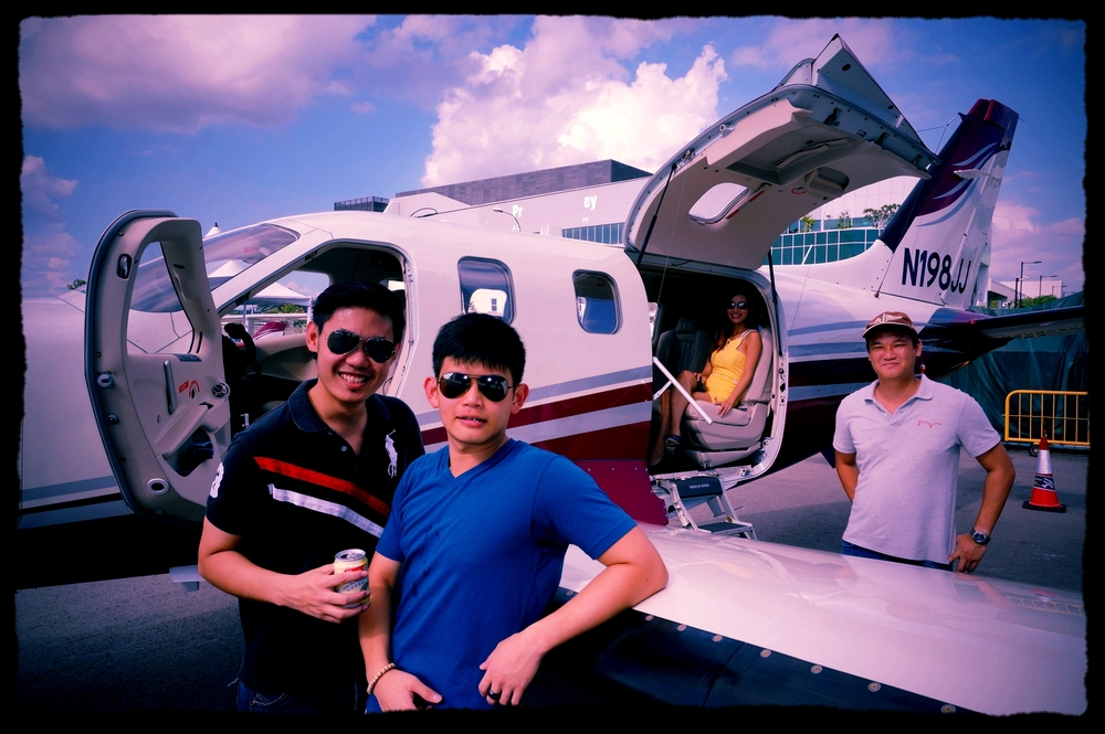 Singapore owner's TBM900 being envied by several aspiring airline pilots in Seletar, Singapore