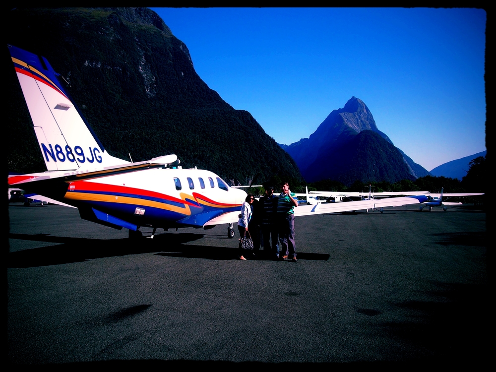 Singapore-based TBM850 owner brings his family on a flying tour in Milford Sound, New Zealand.