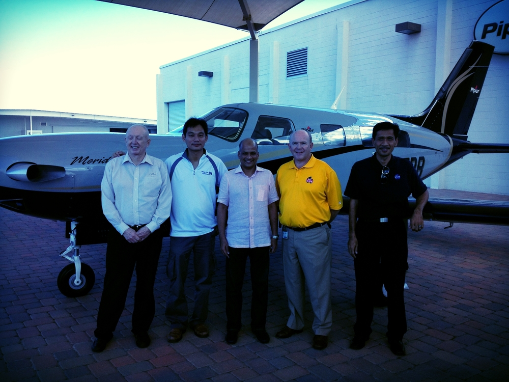 Southeast Asia's very 1st Piper Meridian turboprop handover by Piper Aircraft CEO.