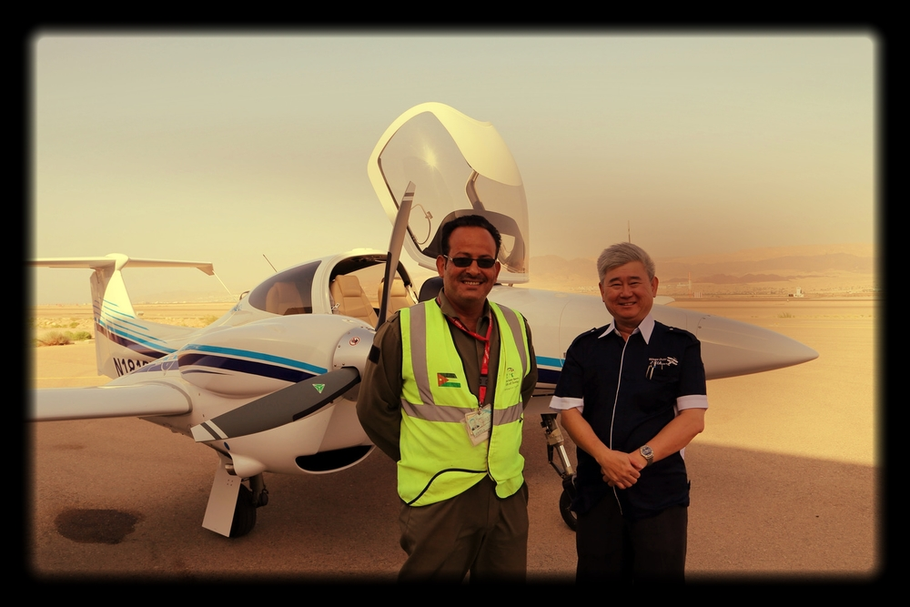 Brand new DA42NG in Jordan enroute delivery to Singapore