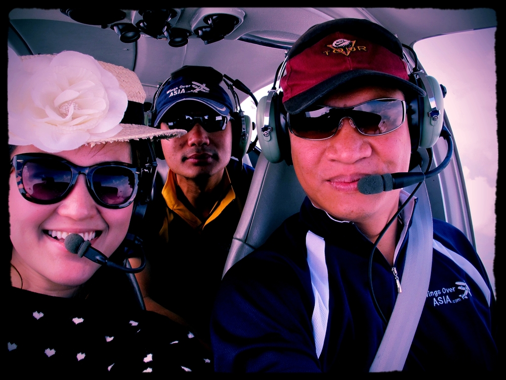 The smiles of a Singapore-based DA40 owner enroute to Cambodia