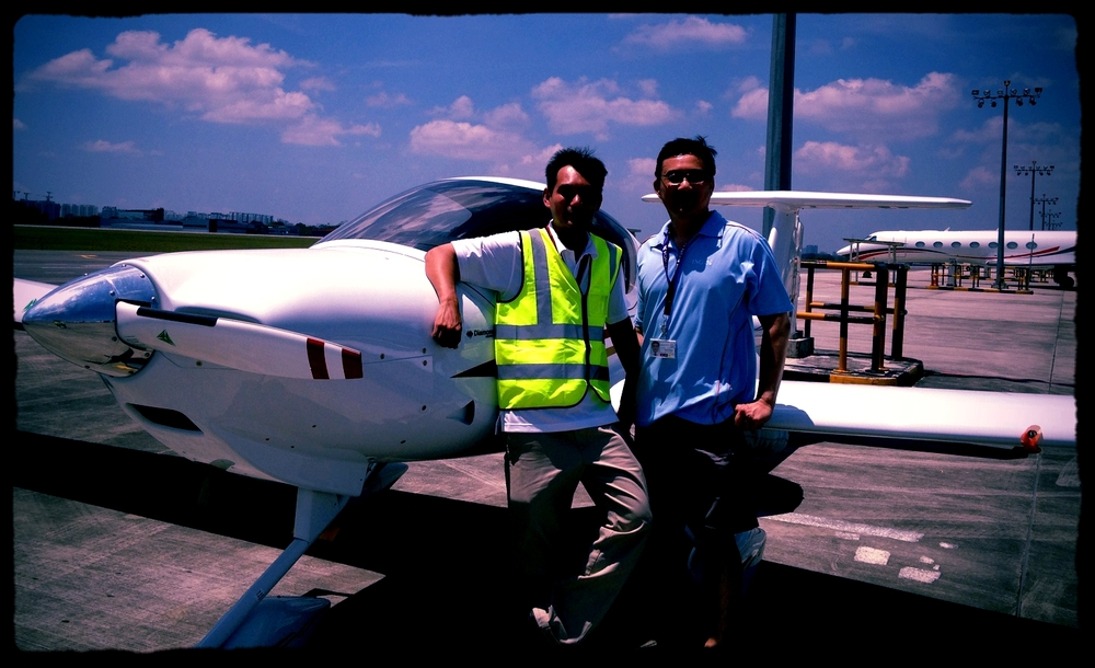 Completion of functional test flight with owner of brand new Singapore-based DA20