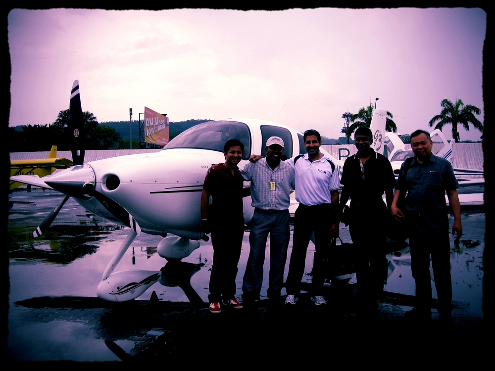 Cirrus SR22 owner and friends hanging out in Subang, Malaysia
