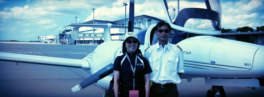 Brand new DA42 delivered to flight school owner in Fukushima, Japan by WOA.