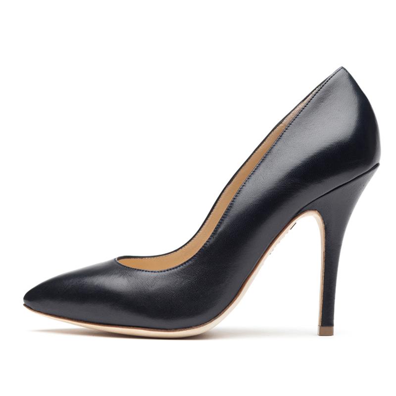 Liam Fahy: Veva navy nappa heels | Shoes,Shoes > Heels -  Hiphunters Shop