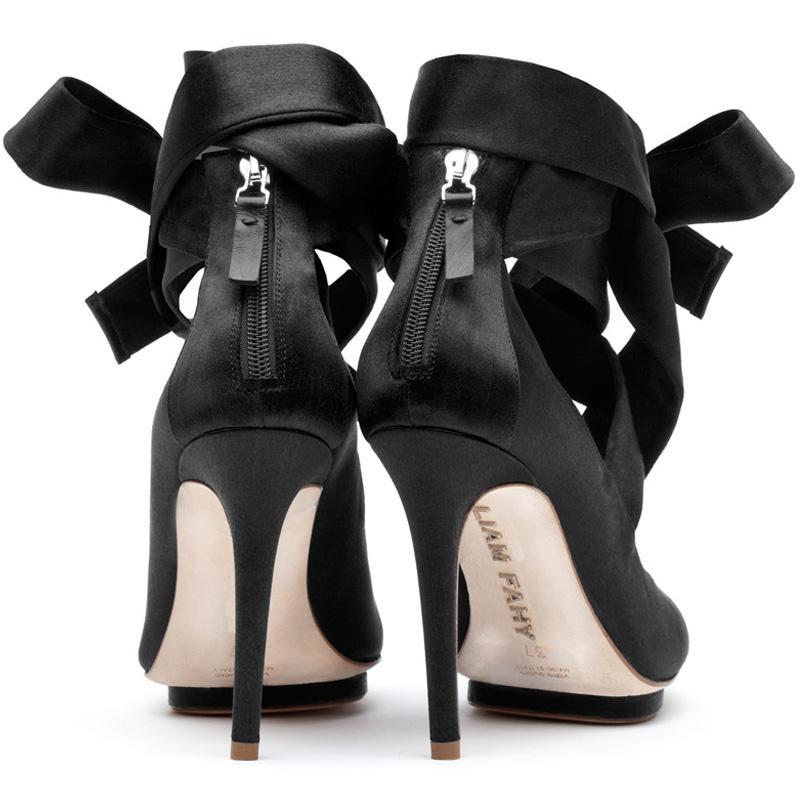 Liam Fahy: Charlotte black satin heels | Shoes,Shoes > Heels -  Hiphunters Shop
