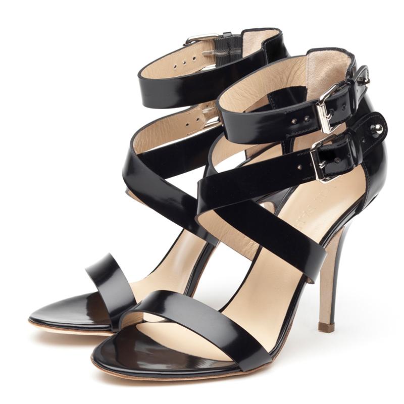 Liam Fahy: Lis black sandals | Shoes,Shoes > Heels,Shoes > Sandals -  Hiphunters Shop