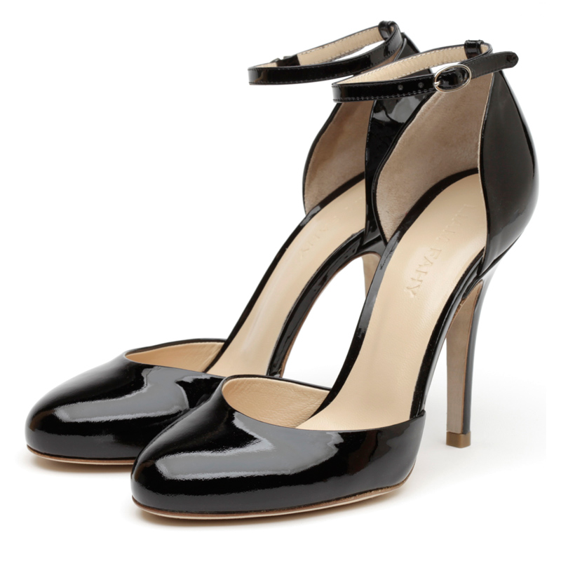 Lula black patent heels