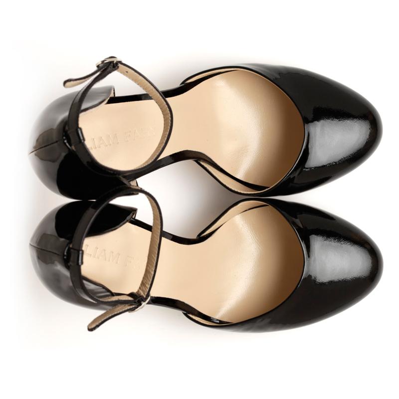 Liam Fahy: Lula black patent heels | Shoes,Shoes > Heels -  Hiphunters Shop