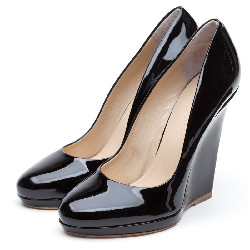Liam Fahy: Emilie black patent heels | Shoes,Shoes > Heels,Shoes > Wedges -  Hiphunters Shop