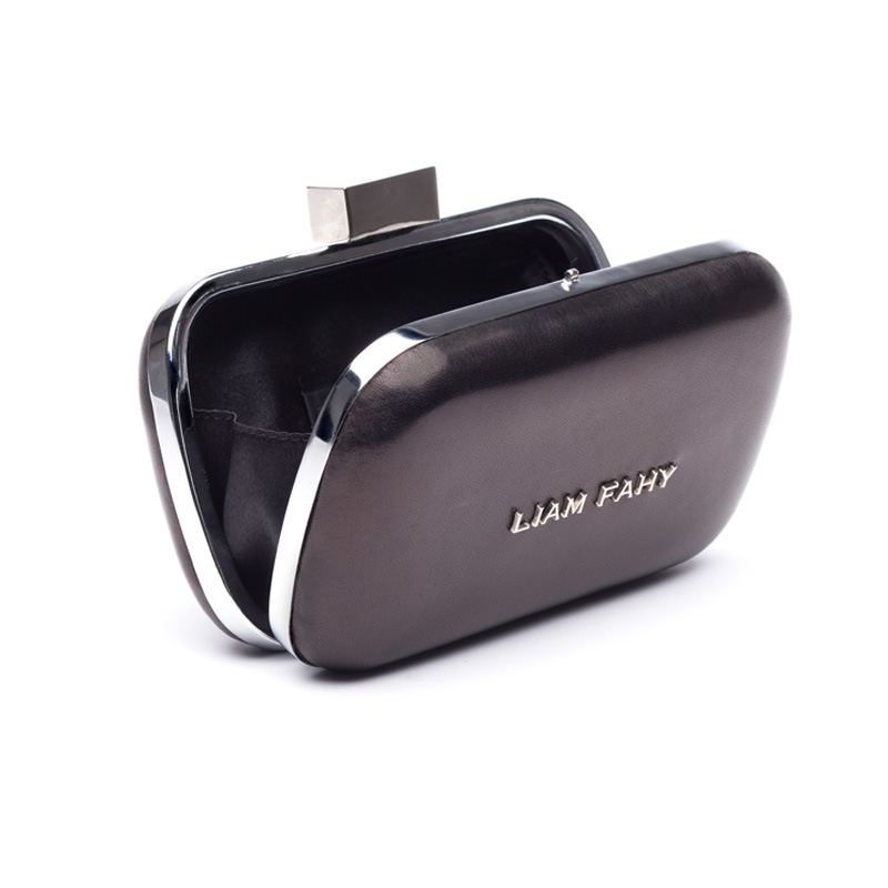 Liam Fahy: Black nappa clutch | Bags,Bags > Clutches -  Hiphunters Shop