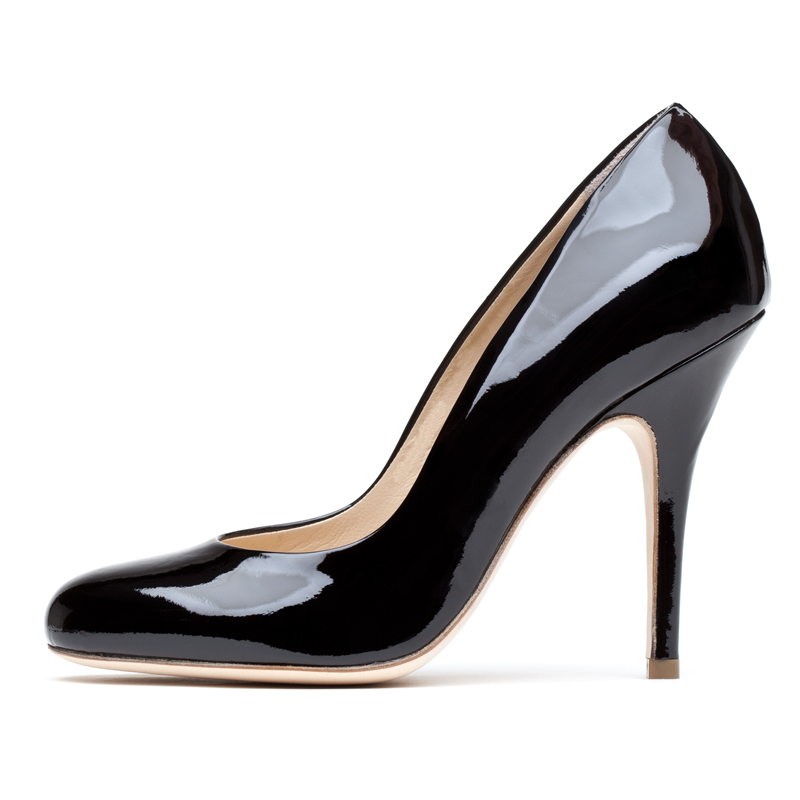 Liam Fahy: Elle black patent heels | Shoes,Shoes > Heels -  Hiphunters Shop