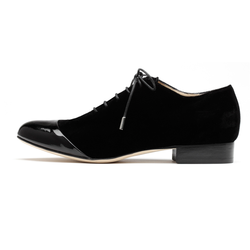 Liam Fahy: Caroline black velvet lace ups | Shoes,Shoes > Lace ups -  Hiphunters Shop