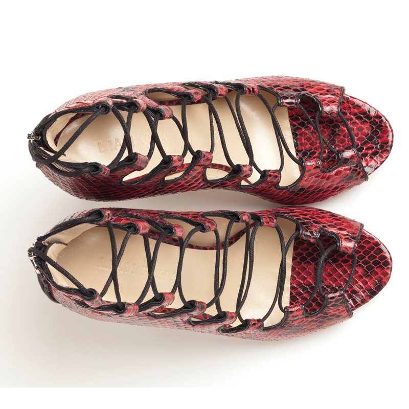 Liam Fahy: Brigitte red water-snake | Shoes -  Hiphunters Shop