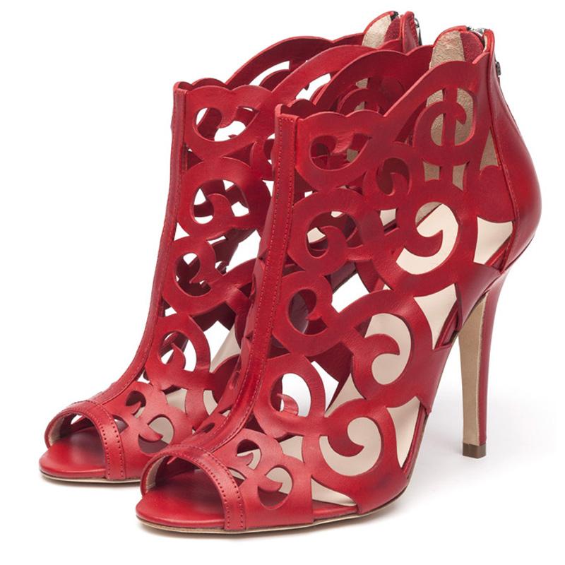 Fleur red sandals