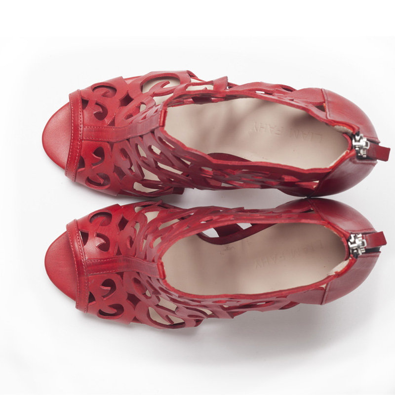 Liam Fahy: Fleur red sandals   Shoes,Shoes > Heels,Shoes > Sandals -  Hiphunters Shop
