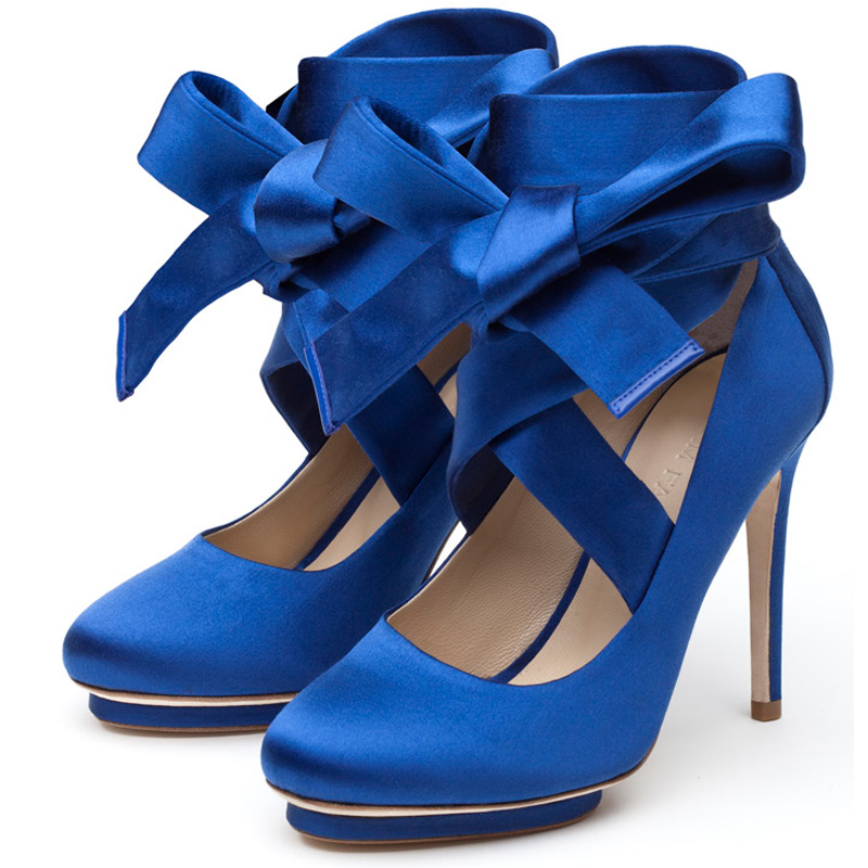 Liam Fahy: Charotte blue satin heels | Shoes,Shoes > Heels -  Hiphunters Shop