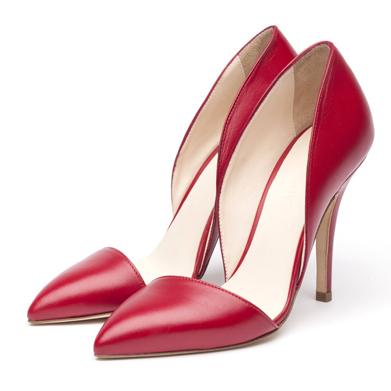Liam Fahy: Maribel red heels | Shoes,Shoes > Heels -  Hiphunters Shop