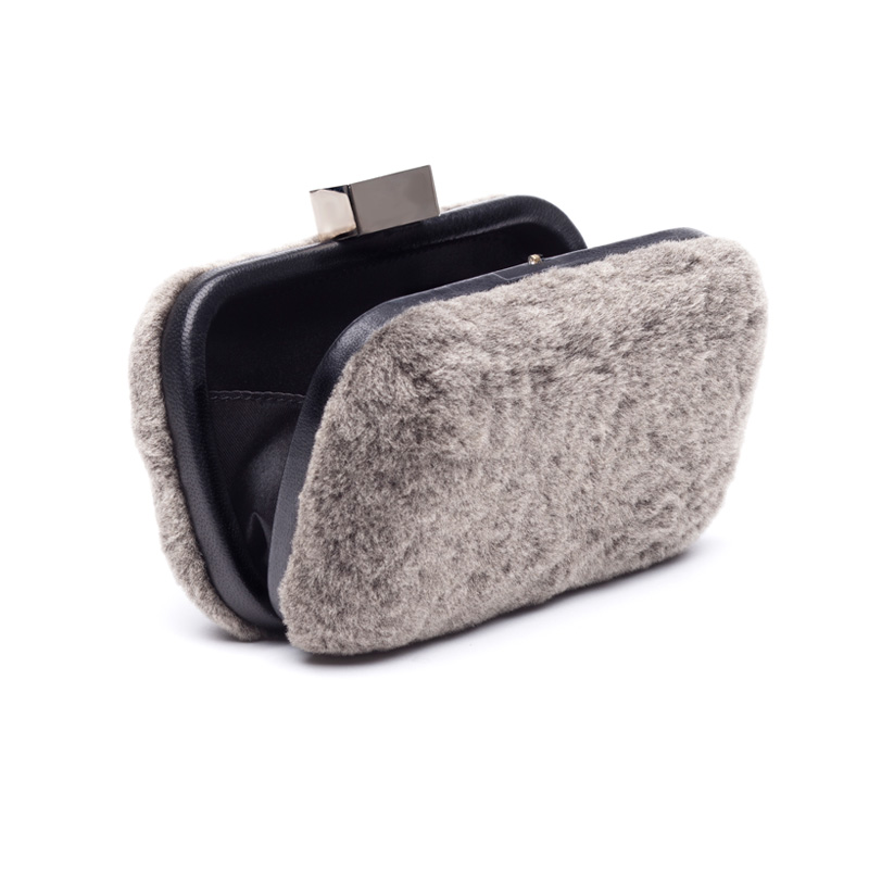 Liam Fahy: Merino fur clutch | Bags,Bags > Clutches -  Hiphunters Shop