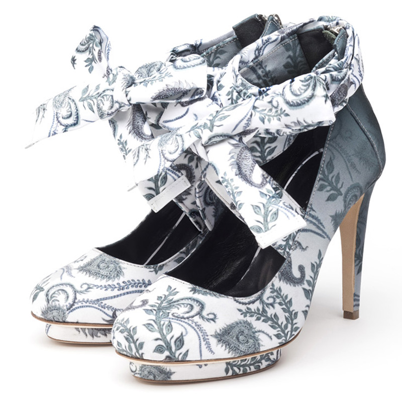 Liam Fahy: Charlotte paisley print heels | Shoes,Shoes > Heels -  Hiphunters Shop