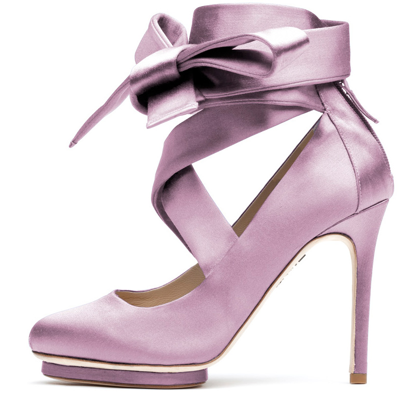 Liam Fahy: Charotte lilac satin heels | Shoes,Shoes > Heels -  Hiphunters Shop