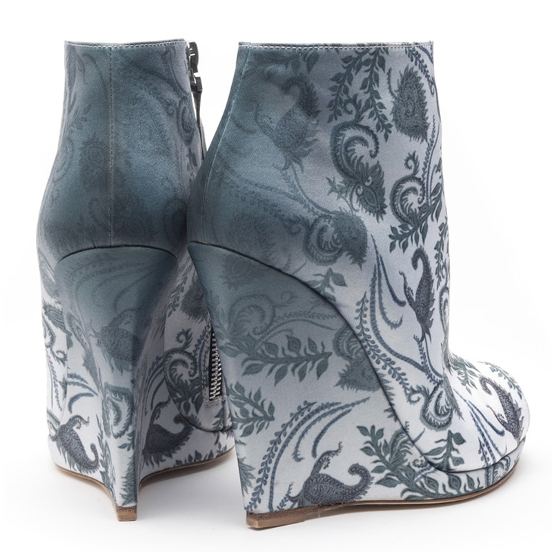 Liam Fahy: Alyse paisley print ankle boots | Shoes,Shoes > Ankle boots,Shoes > Wedges -  Hiphunters Shop