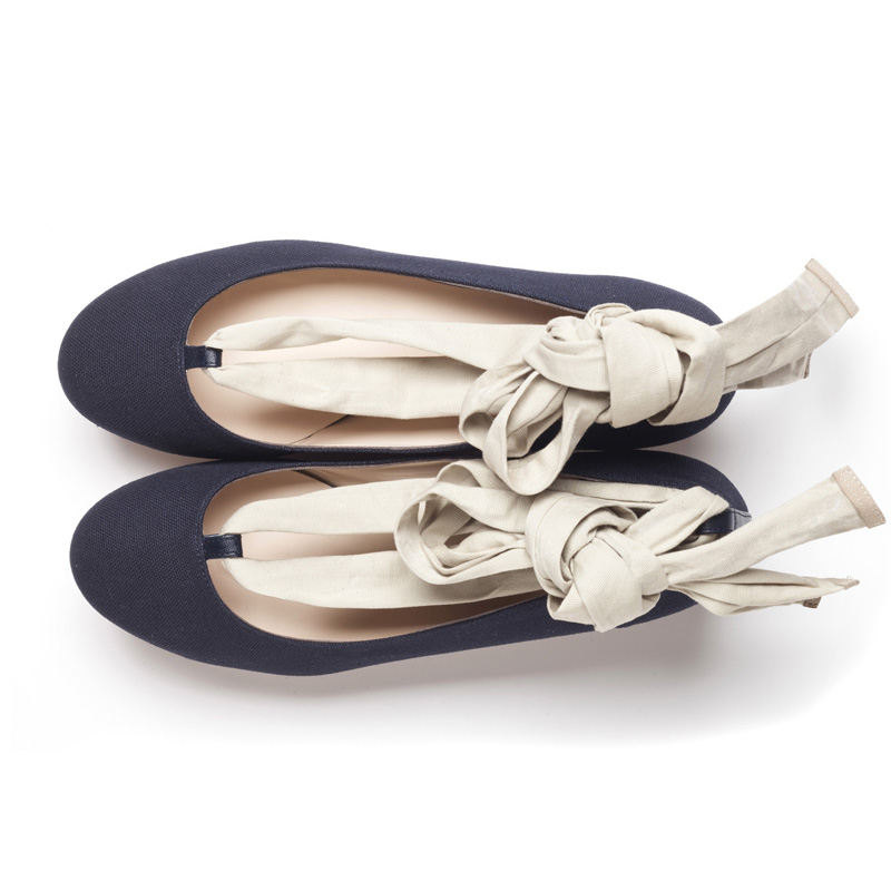Liam Fahy: Lyla navy canvas  | Shoes,Shoes > Flats -  Hiphunters Shop