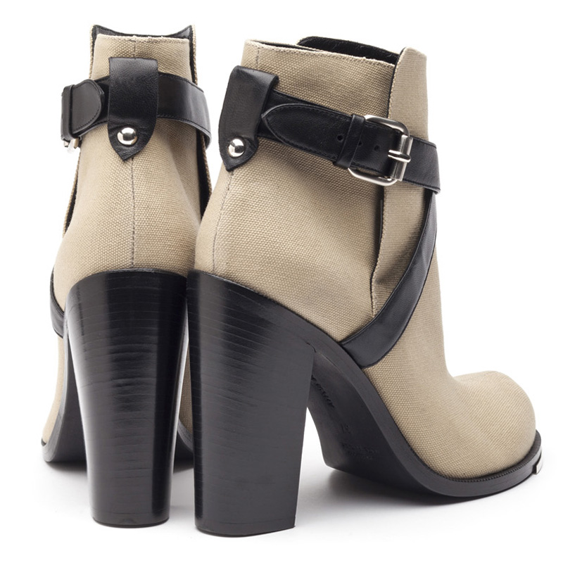 Liam Fahy: Jolie sandy canvas ankle boots | Shoes,Shoes > Ankle boots -  Hiphunters Shop