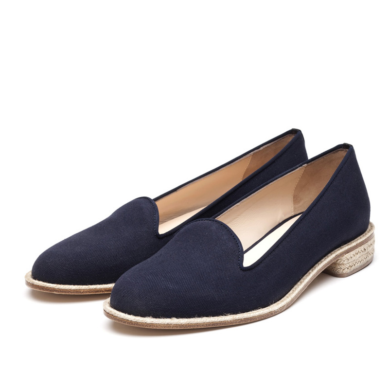 Liam Fahy: Christine navy canvas | Shoes,Shoes > Flats -  Hiphunters Shop