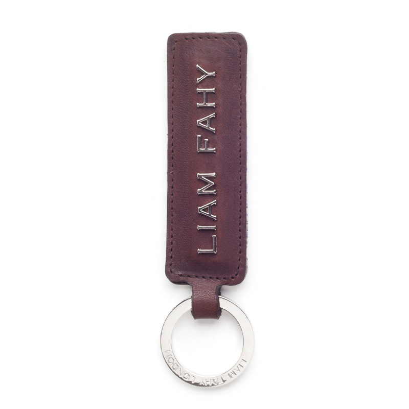 Liam Fahy: Brown typography keyring | Accessories,Accessories > Key rings -  Hiphunters Shop