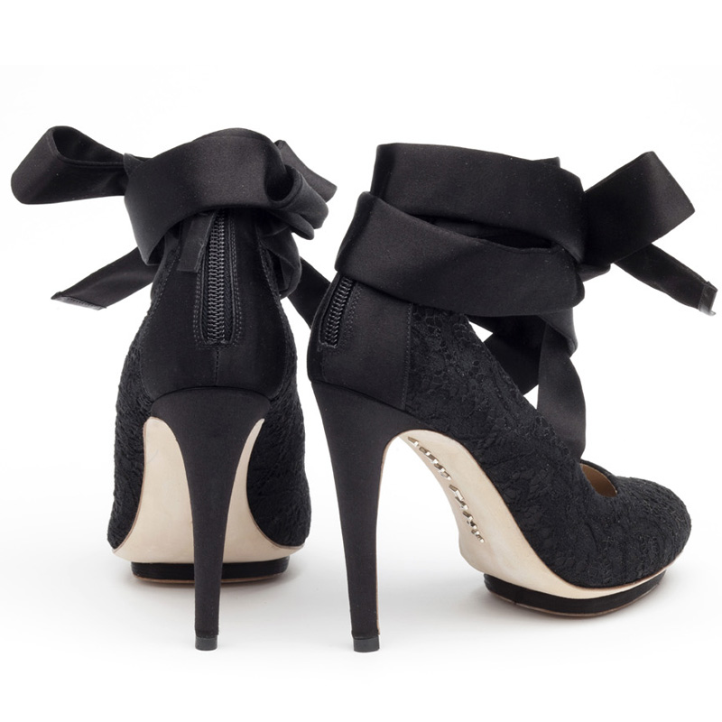 Liam Fahy: Charlotte black lace heels | Shoes,Shoes > Heels -  Hiphunters Shop