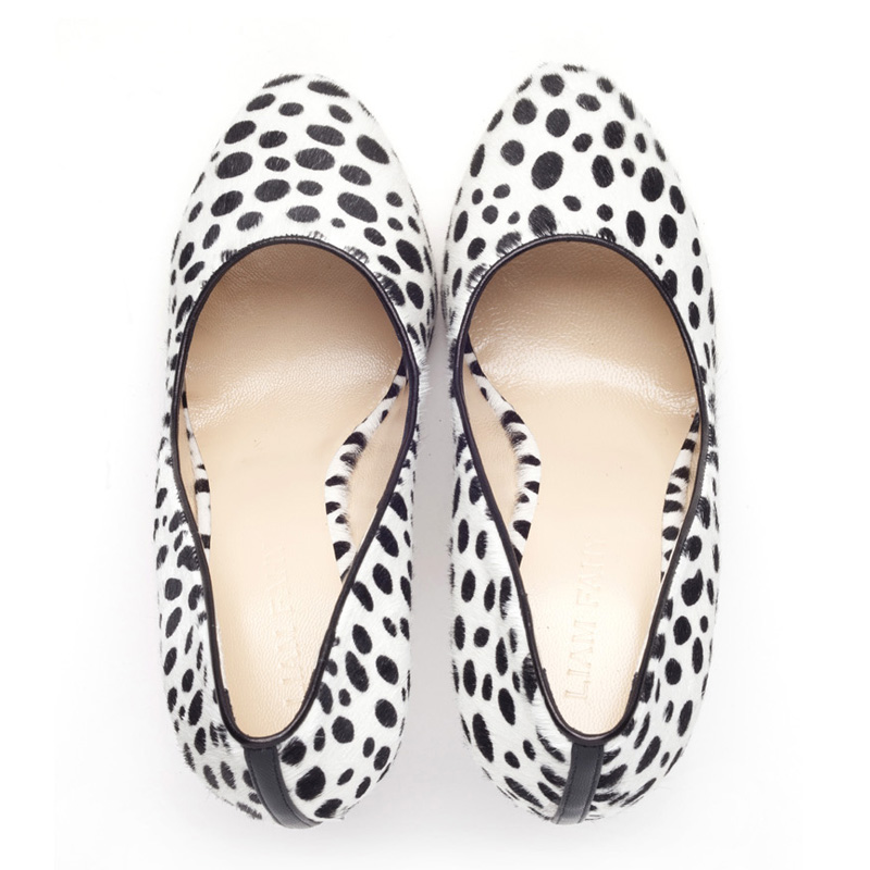 Liam Fahy: Elle dalmation hairy calf heels | Shoes,Shoes > Heels -  Hiphunters Shop