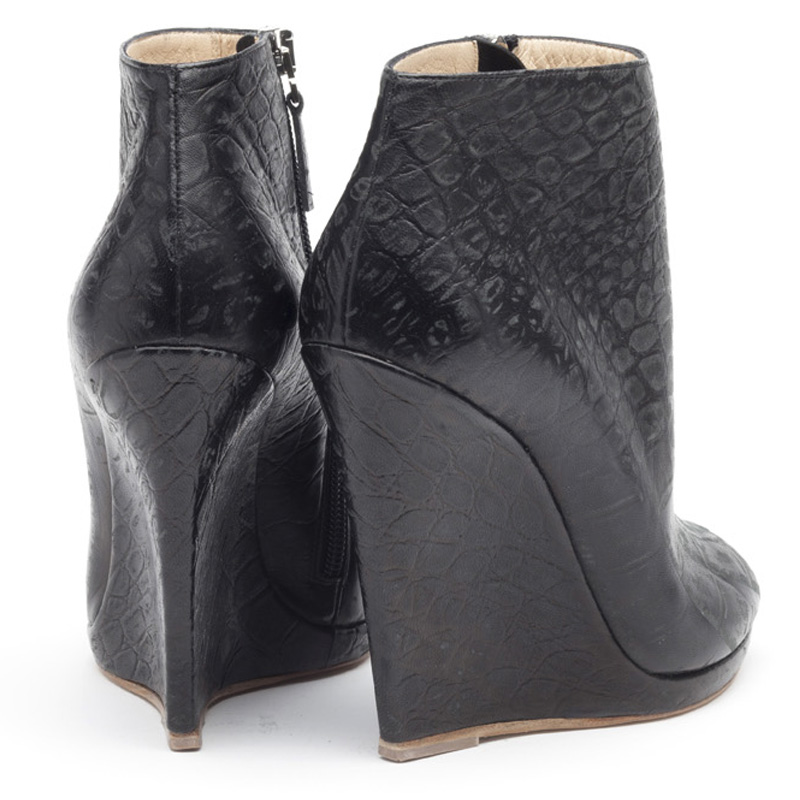 Liam Fahy: Alys croc stampato ankle boots | Shoes,Shoes > Ankle boots,Shoes > Wedges -  Hiphunters Shop