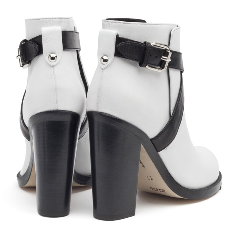 Liam Fahy: Jolie black & white ankle boots | Shoes,Shoes > Ankle boots -  Hiphunters Shop