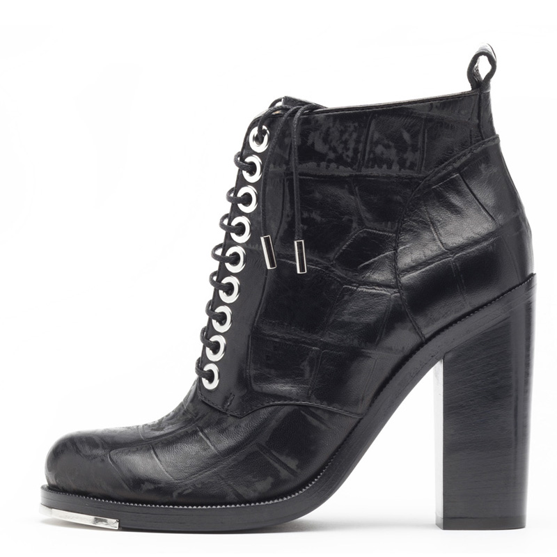Liam Fahy: Alex black croc ankle boots | Shoes,Shoes > Lace ups,Shoes > Ankle boots -  Hiphunters Shop