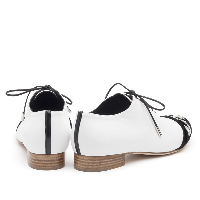 Liam Fahy: Coco black & white lace ups | Shoes,Shoes > Lace ups -  Hiphunters Shop