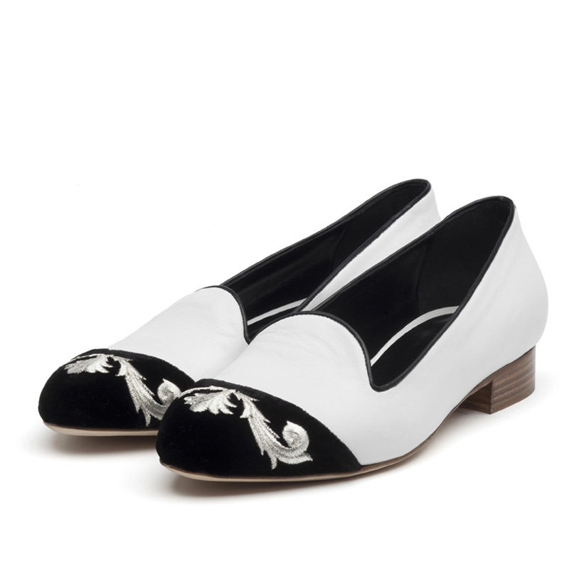 Esme black & white flats