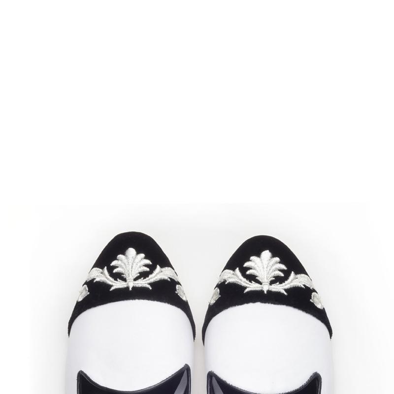 Liam Fahy: Esme black & white flats | Shoes,Shoes > Flats,Shoes > Loafers -  Hiphunters Shop